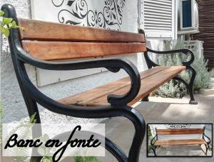BANC EN FONTE ET BOIS / Soldé à 270€